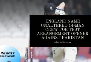 England name unaltered 14-man crew for Test arrangement opener against Pakistan