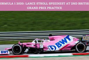 Lance Stroll speediest at second British Grand Prix practice