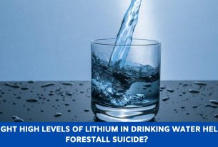 Might high levels of lithium in drinking water help forestall suicide?