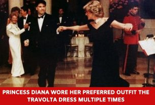 Princess Diana wore her preferred outfit the Travolta dress multiple times