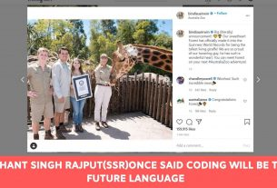 Sushant Singh Rajput(SSR)Once Said Coding will be the Future Language