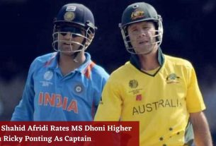 Why Shahid Afridi Rates MS Dhoni Higher Than Ricky Ponting As Captain