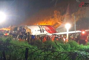 For Heavy Rain Air India Plane Crashes in Southern India