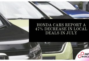 Honda Cars report a 47% decrease in local deals in July