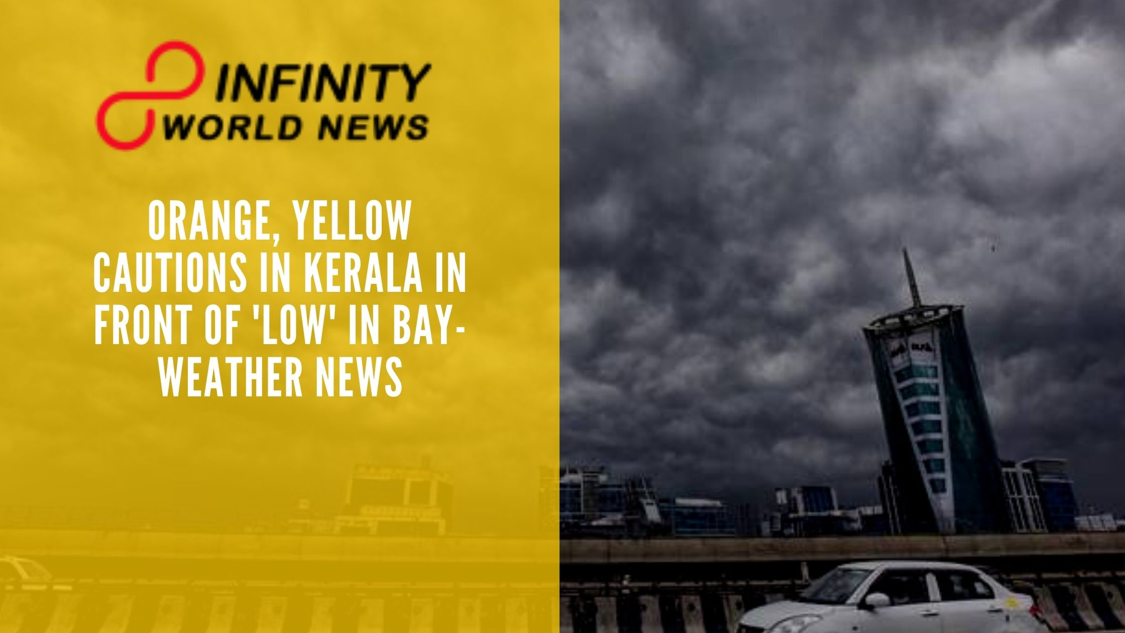 Orange, Yellow cautions in Kerala in front of 'low' in Bay-Weather News