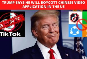 Trump says he will boycott Chinese video application in the US