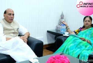 Vasundhara Raje meets Defence Minister Rajnath Singh amid Rajasthan political emergency