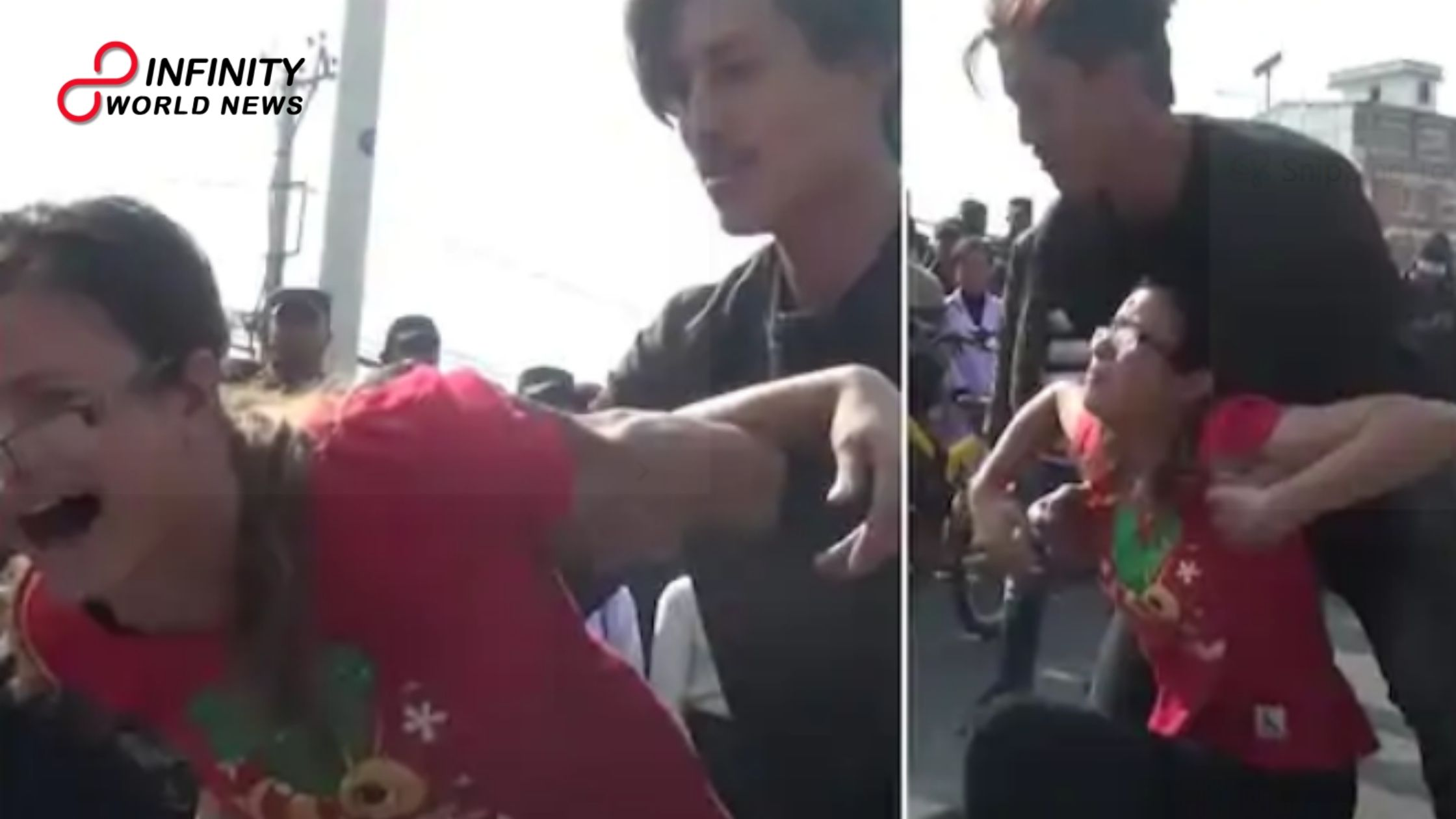 Viral Video Depicting Man Openly Attacking a Woman in Nepal as Cops Watch is Bogus