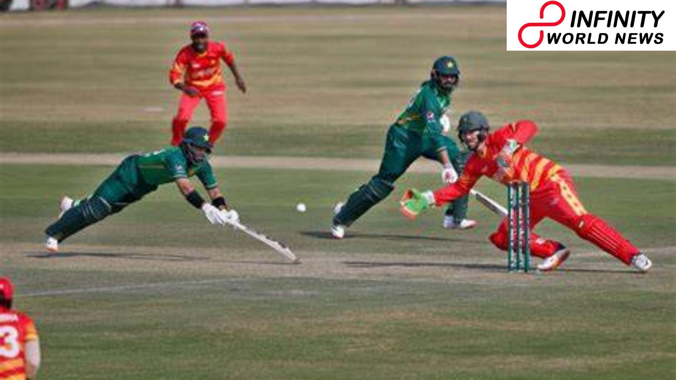 Pakistan batsmen Harris Sohail, Imam Ul Haq, finish up on striker's end