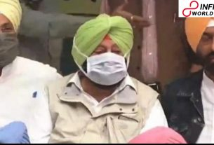 Captain Amarinder Singh at Delhi dharna