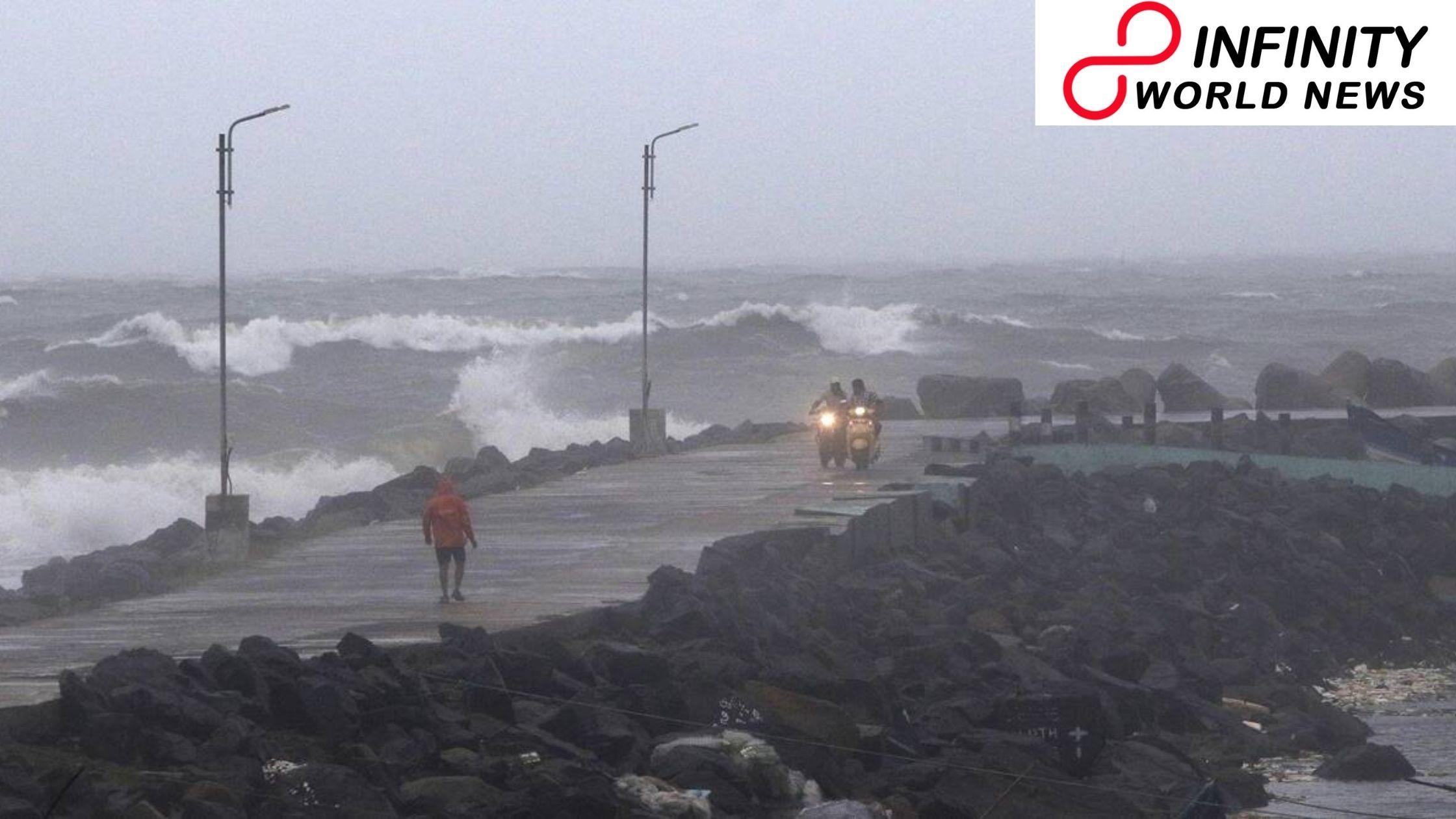Cyclone Burevi on Cross Sri Lanka at Wednesday