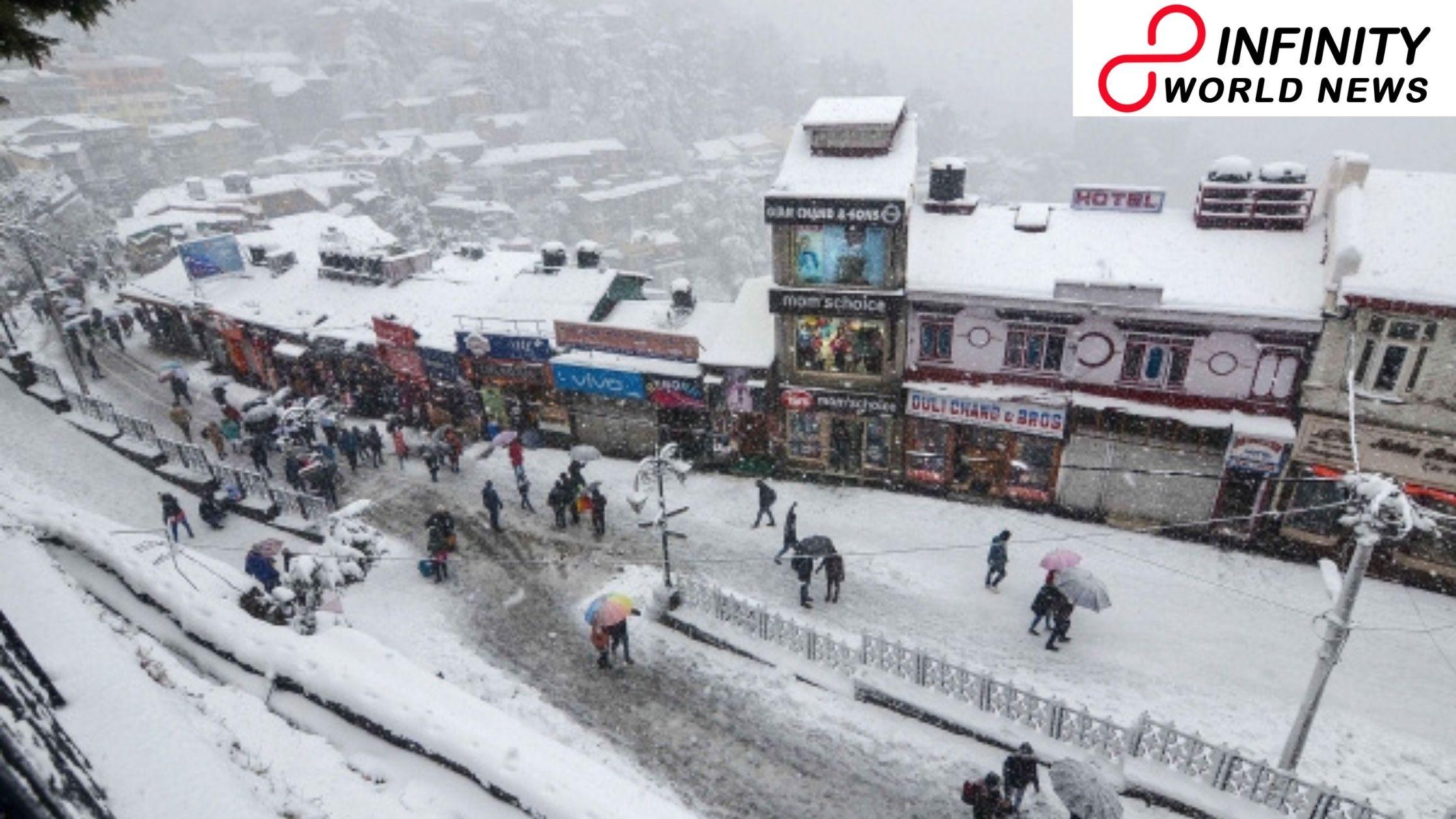 Hefty snowfall in Kashmir Uttarakhand HimachalPradesh