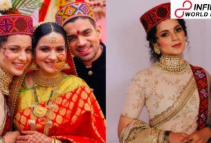 Kangana Ranaut wears customary Pahadi outfit for sibling Aksht wedding