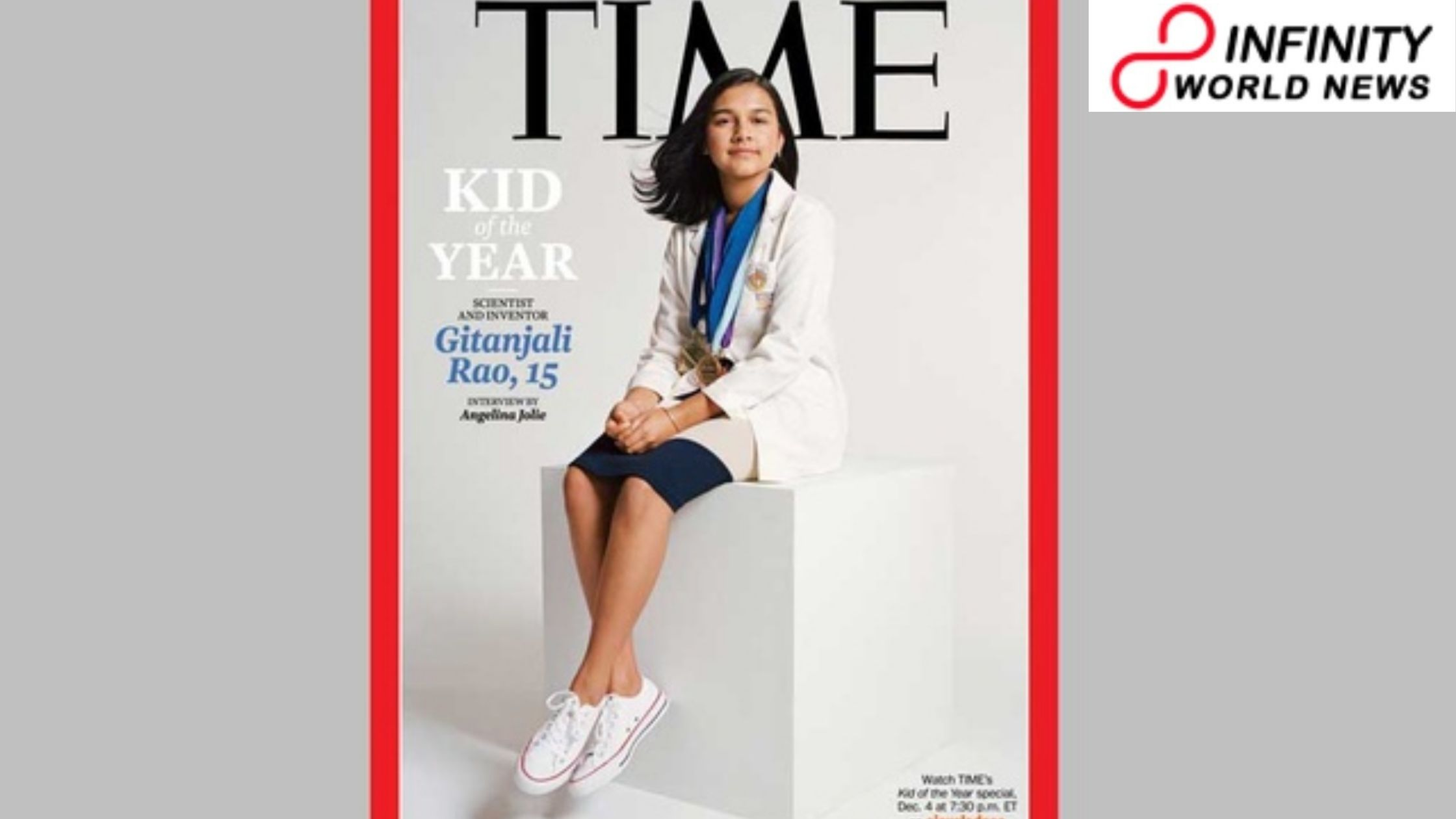 15-Year-Old Indian-American Gitanjali Rao Becomes TIME's First-since forever Kid of the Year