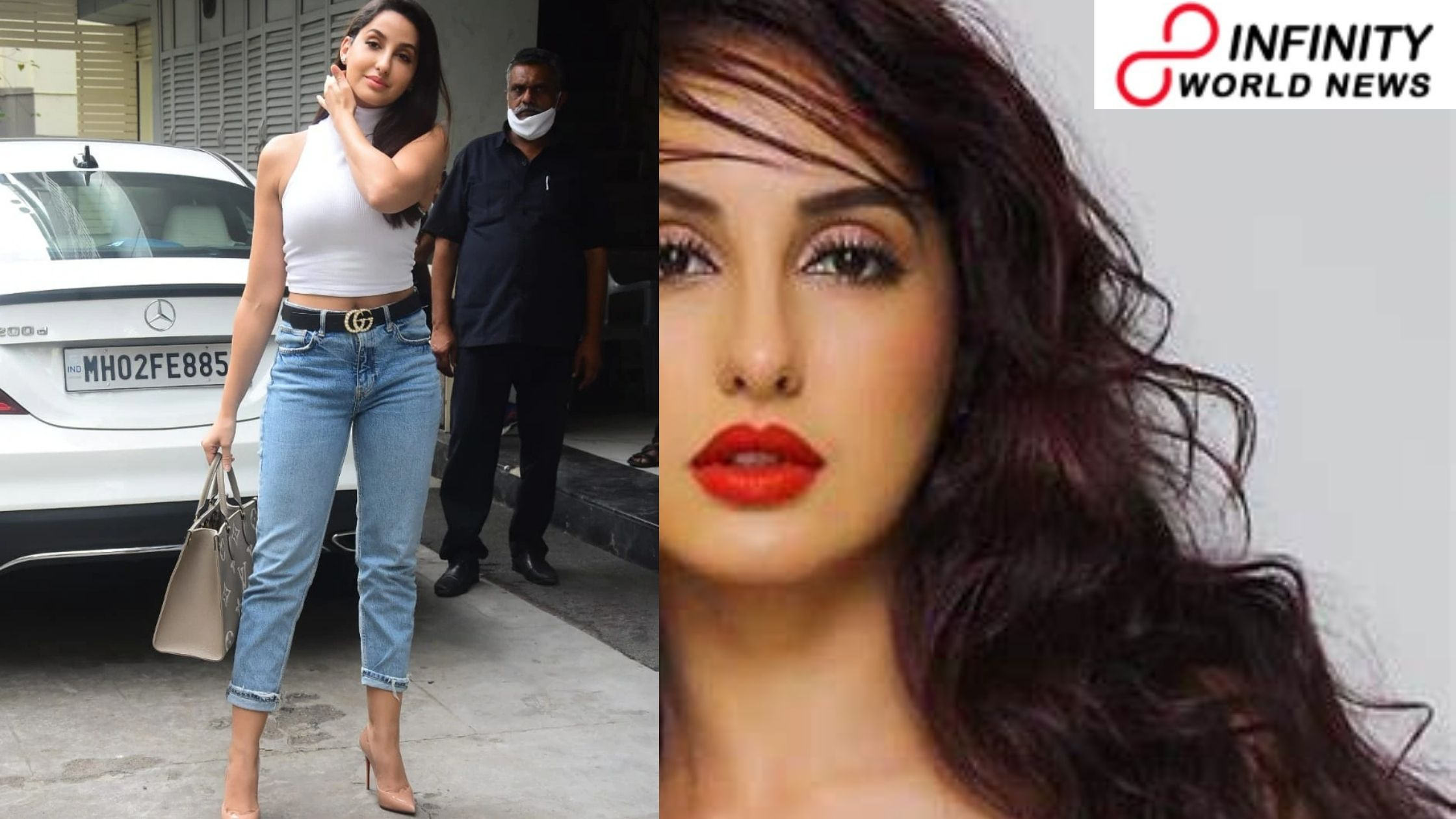 Nora Fatehi in harvest top and types of denim with Rs 2 lakh sack says something