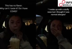 Young lady discovers she has COVID while recording Starbucks drink trial - WATCH