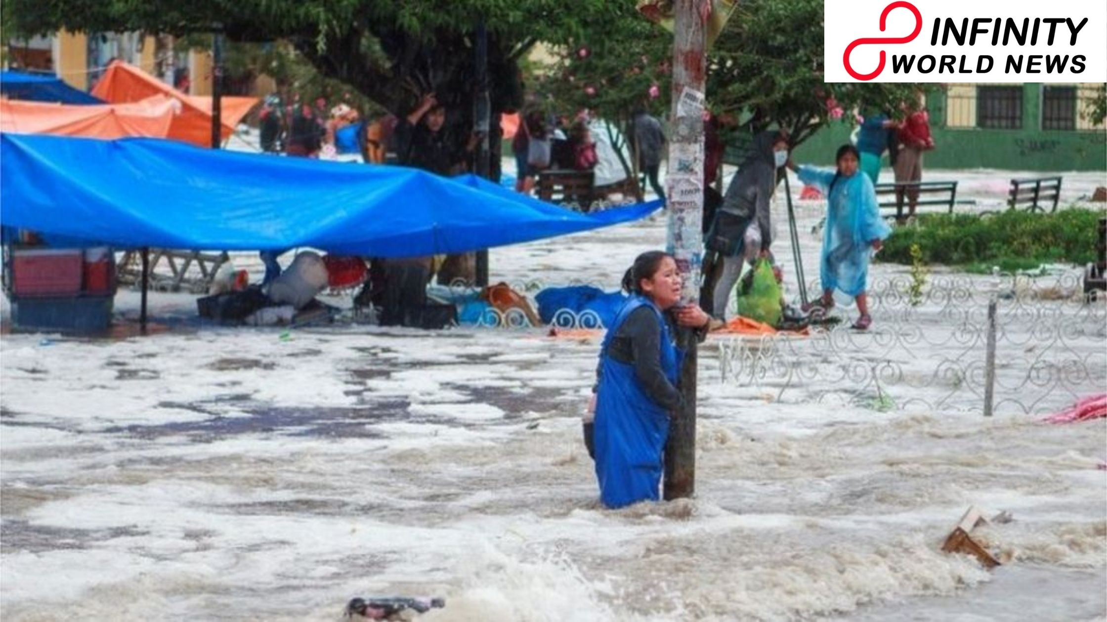 Dangerous glimmer floods tear through Bolivia's Sucre city