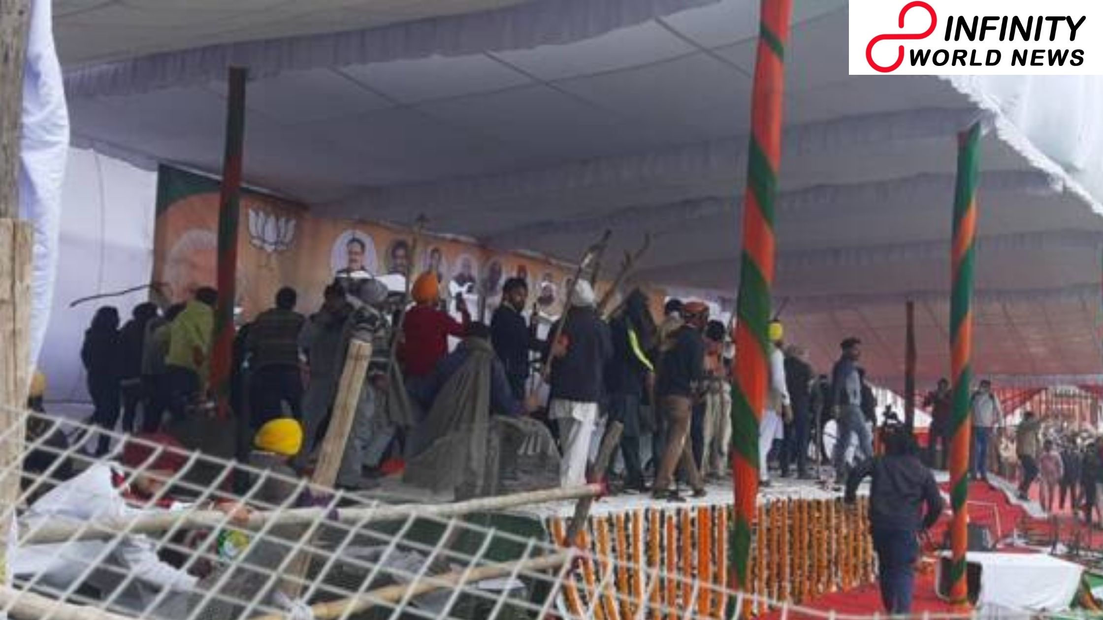 Haryana CM Cancels Farmers' Meet After Chaos By Protesters