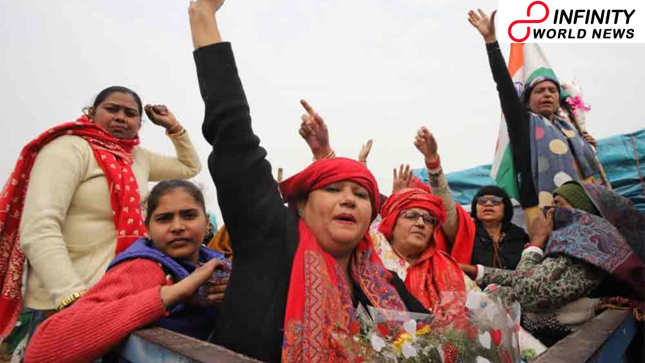 Women Take over Protests for a Day to Mark 'Women Farmers' Day' during Ongoing Agitation