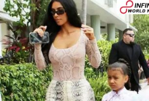 Kim Kardashian Flaunts Hermes Bag Designed by Daughter North while Painting Drama
