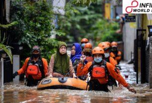 Rainstorm Floods Inundate Indonesian Capital Jakarta; More Than 1,000 People Forced to Evacuate