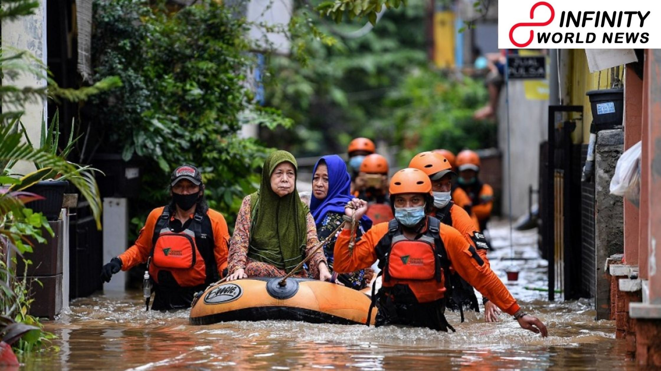 Rainstorm Floods Inundate Indonesian Capital Jakarta; More Than 1,000 People Forced to Evacuate