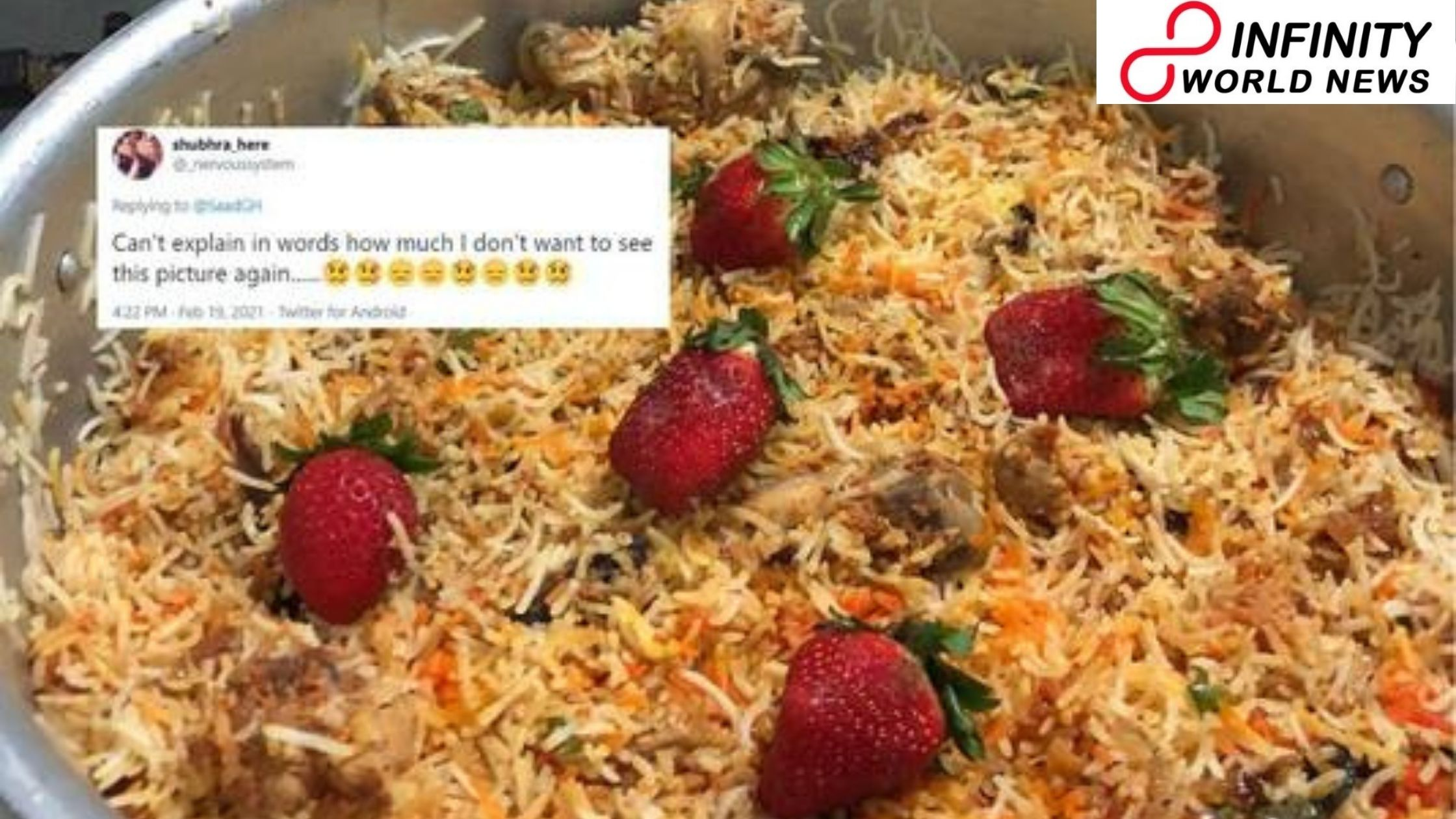 'Strawberry Biryani' is the Freshest Bizarre Combo That Every Desi Needs to Unsee