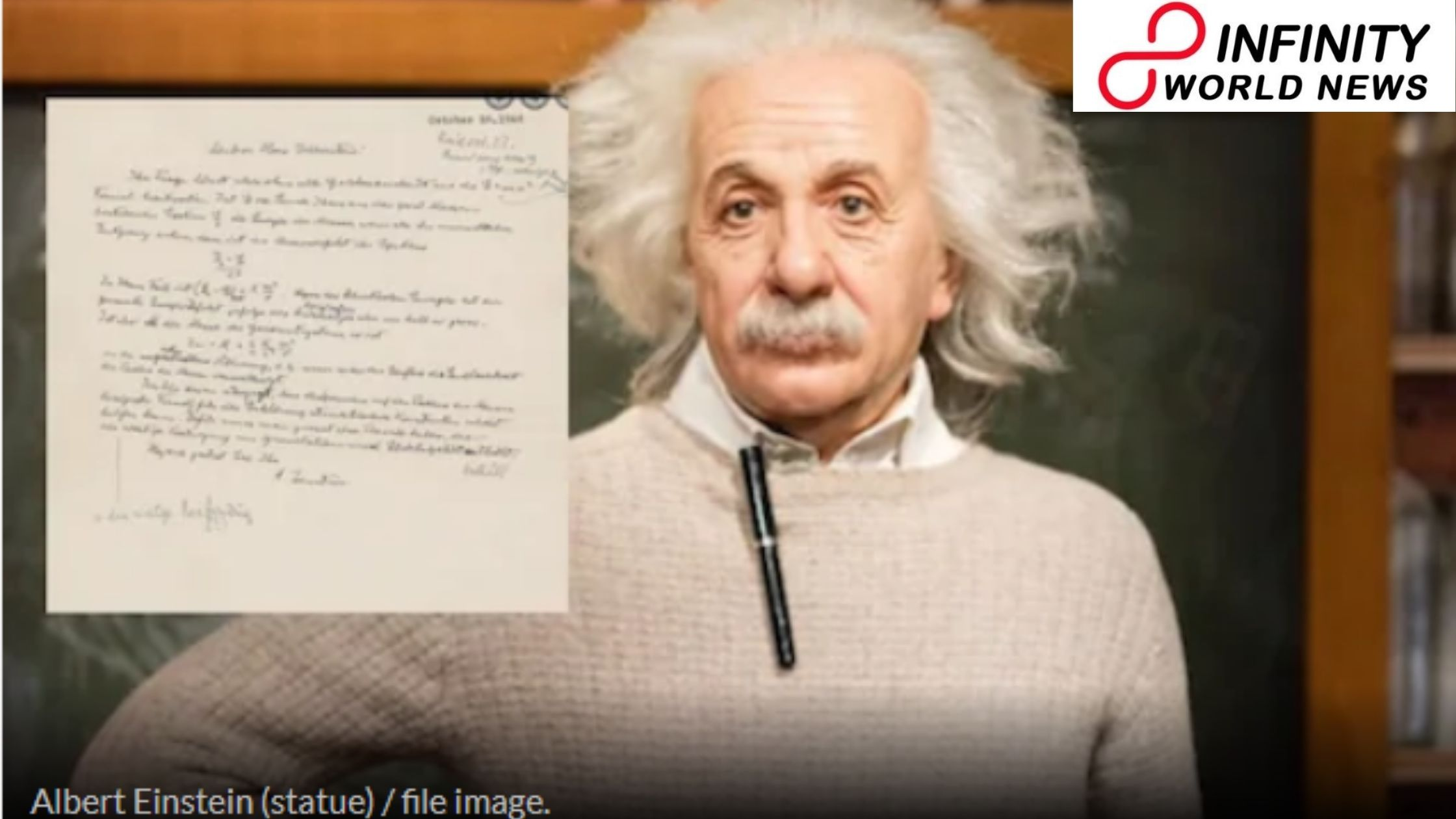 Albert Einstein s Handwritten Letter Equation available for 3 Crore